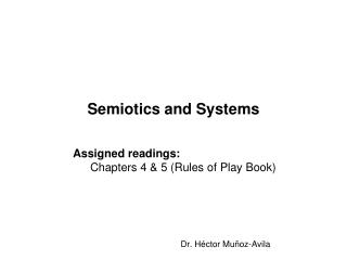 Semiotics and Systems