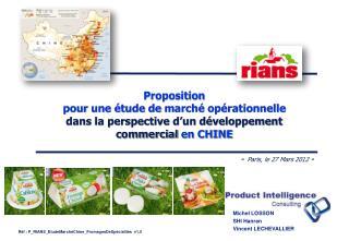 Proposition pour  une étude de  marché opérationnelle