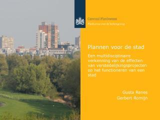 Plannen voor de stad
