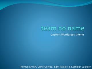 team no name