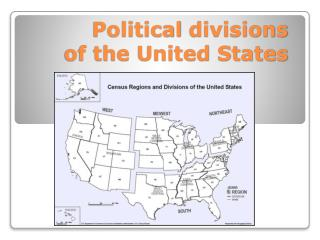 Political  divisions of the United States