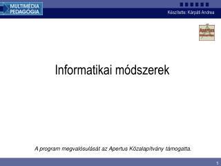Informatikai m dszerek
