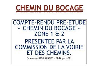 CHEMIN  DU BOCAGE