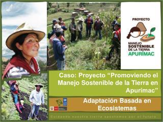 Caso: Proyecto �Promoviendo el Manejo Sostenible de la Tierra en Apur�mac�