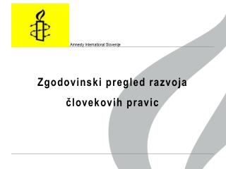 Amnesty International  Slovenije