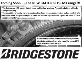 Coming Soon……The NEW BATTLECROSS MX range!!!