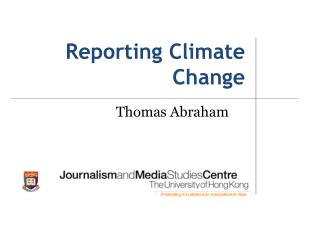 Reporting Climate Change