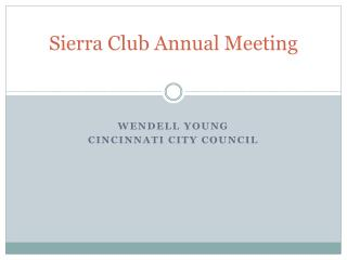 Sierra Club Annual Meeting