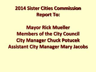 Sierra Vista Sister Cities Commission