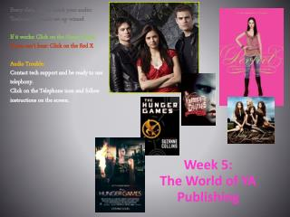 Week 5:  The World of YA Publishing
