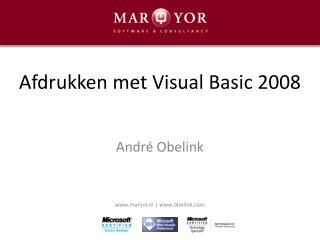 Afdrukken met Visual Basic 2008