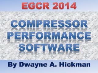 Compressor Performance Software