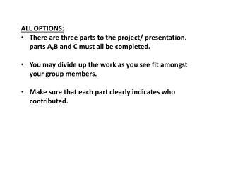 ALL OPTIONS: