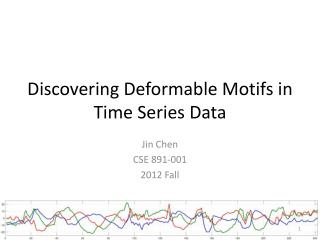 Discovering Deformable Motifs in Time Series Data