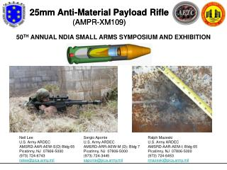 25mm Anti-Material Payload Rifle AMPR-XM109