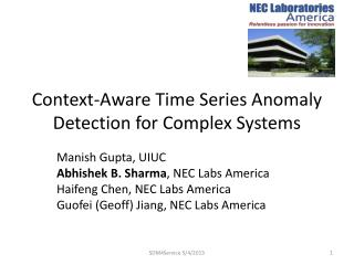 Context-Aware Time Series Anomaly Detection for Complex Systems