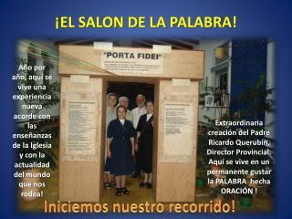 ¡EL SALON DE LA PALABRA!