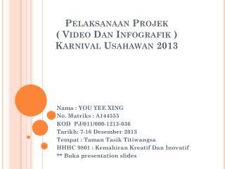 Pelaksanaan Projek  ( Video Dan Infografik ) Karnival Usahawan 2013