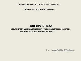 Lic. José Villa Córdova
