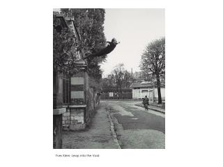 Yves Klein: Leap into the Void