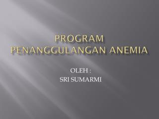PROGRAM PENANGGULANGAN ANEMIA
