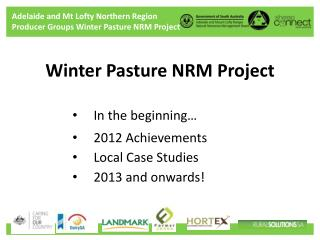 Winter Pasture NRM Project