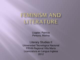 Feminism  and  Literature