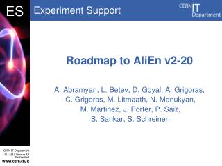 Roadmap to  AliEn  v2-20