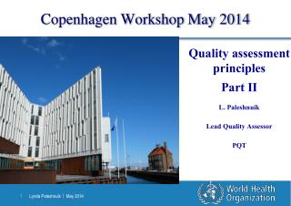 Copenhagen Workshop May 2014