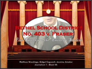Bethel School District No. 403 v. Fraser: Free Speech and the American Student