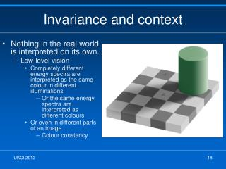 Invariance and context