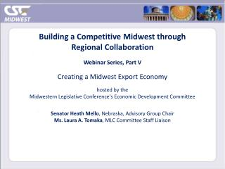 Building a Competitive Midwest through Regional Collaboration Webinar Series