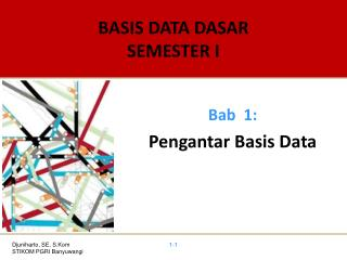 BASIS DATA DASAR SEMESTER I