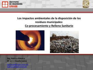Los impactos ambientales de la disposición de los residuos municipales: