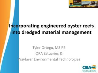 Incorporating engineered oyster reefs into dredged material management