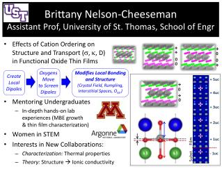 Brittany Nelson-Cheeseman Assistant Prof,  University of St.  Thomas, School of  Engr