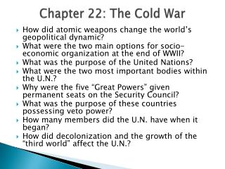Chapter 22: The Cold War