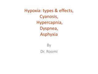 Hypoxia: types & effects,  Cyanosis, Hypercapnia ,  Dyspnea ,  Asphyxia