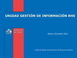 UNIDAD GESTIÓN DE INFORMACIÓN RHS