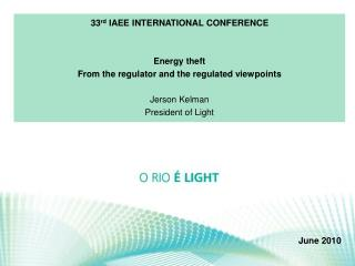 33 rd  IAEE INTERNATIONAL CONFERENCE Energy theft