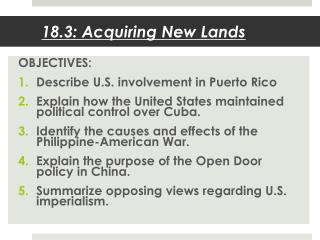18.3: Acquiring New Lands