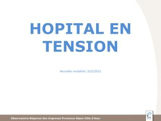 HOPITAL EN TENSION