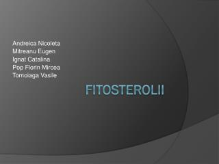 Fitosterolii