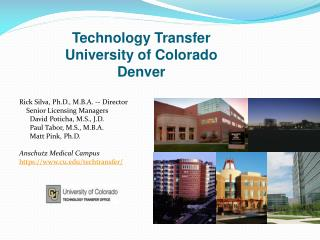 Technology Transfer  University of Colorado Denver