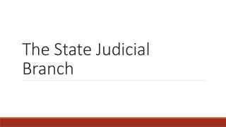The State Judicial Branch