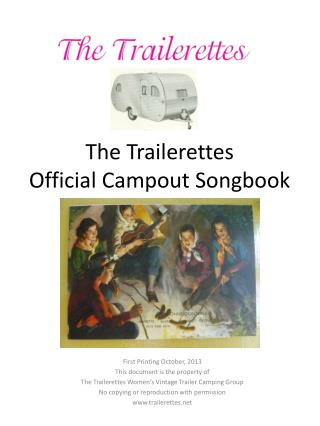 The Trailerettes Official Campout Songbook