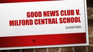 Good News Club v. Milford Central School