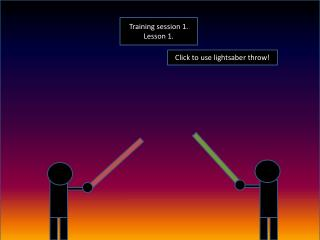Click to use lightsaber throw!