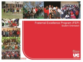 Fraternal Excellence Program (FEP) Student Orientation