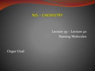 NIS �  CHEMISTRY